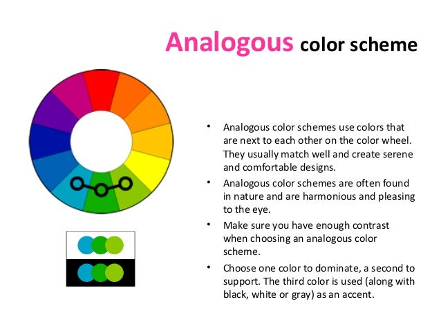 Color theory - Analogous color scheme definition ...