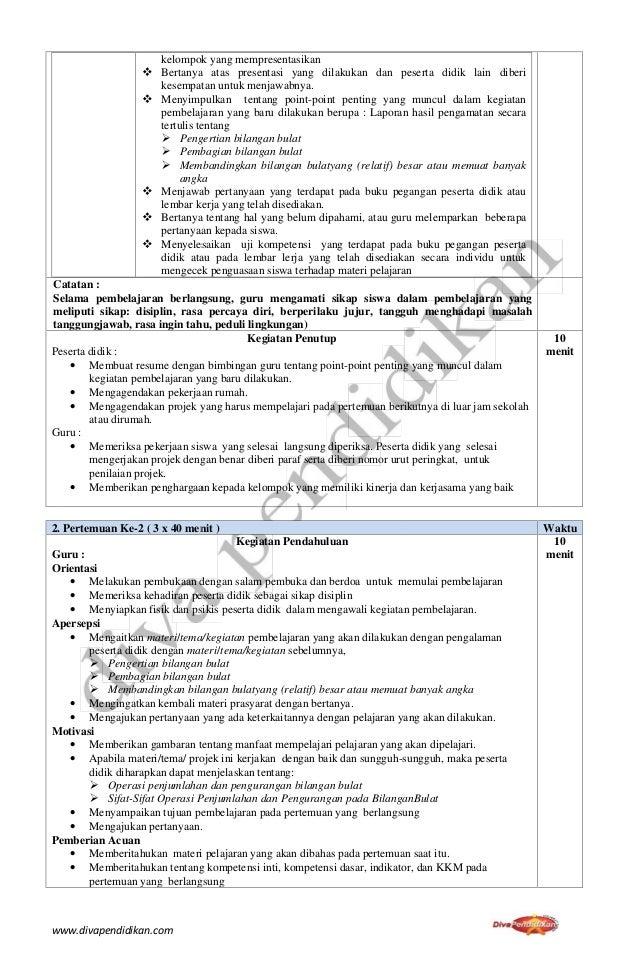 contoh RPP K13 Revisi 2017 Matematika Kelas 7 SMP