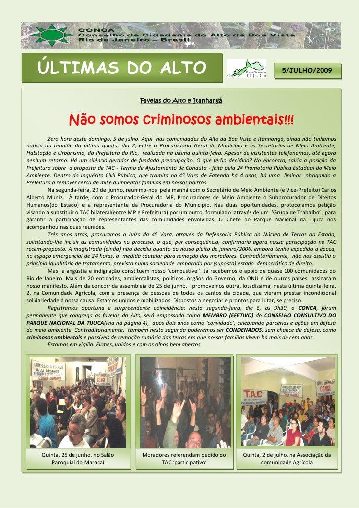 ÚLTIMAS DO ALTO                                                                                   5/JULHO/2009            ...