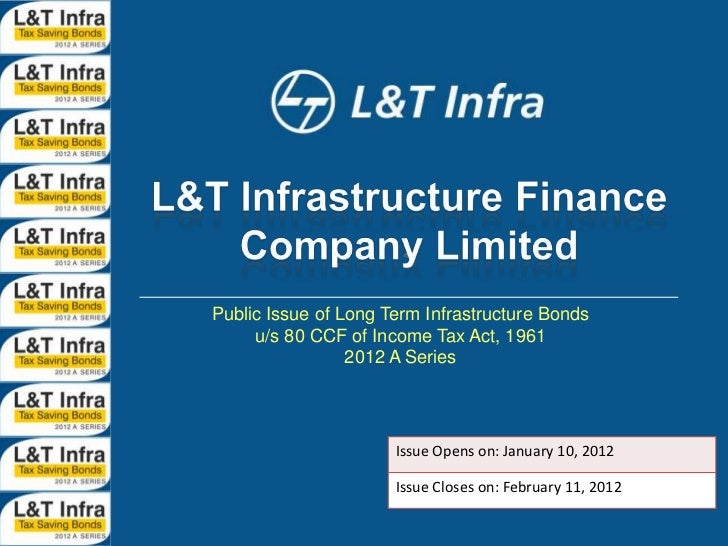 Public Issue of Long Term Infrastructure Bonds     u/s 80 CCF of Income Tax Act, 1961                 2012 A Series       ...