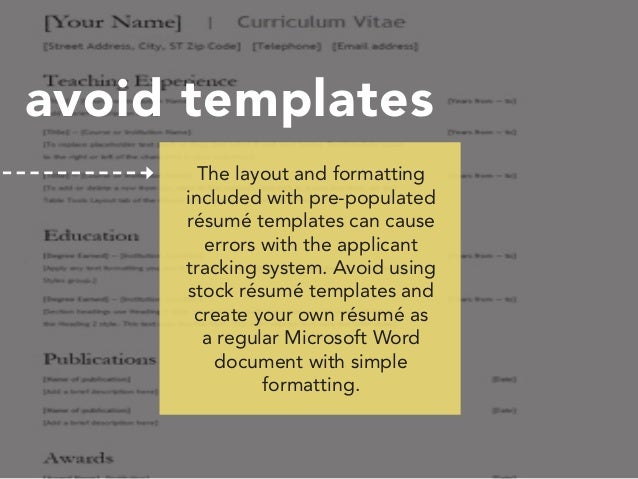 resume tracking system
