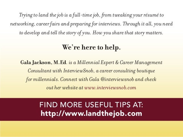 http://www.landthejob.com FIND MORE USEFUL TIPS AT: Trying to land the job is a full-time job, from tweaking your résumé t...