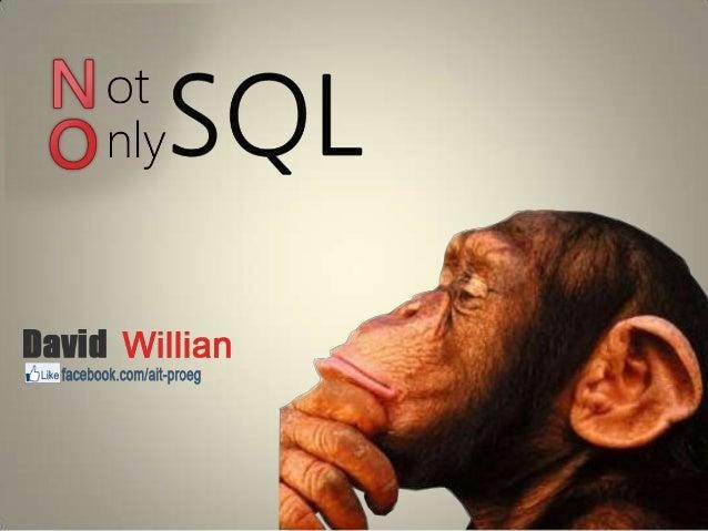 • NoSQL refere-se a um conjunto de bancos  dados que não utilizam relacionamentos e  uma interface SQL.