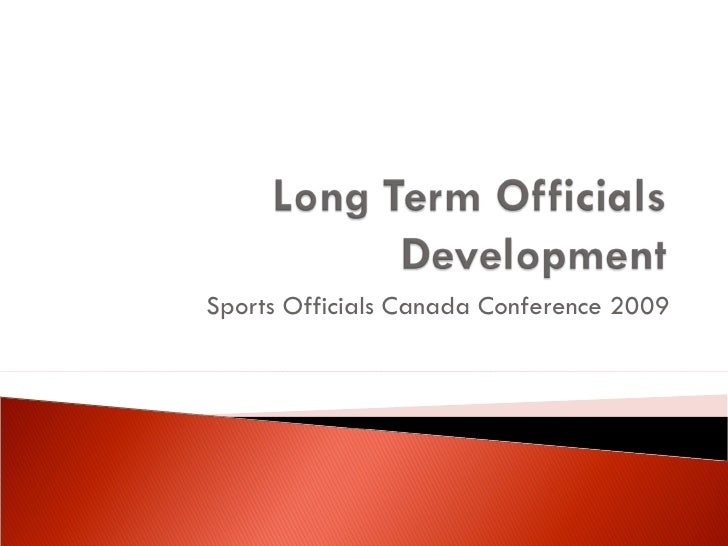 Sports Officials Canada Conference 2009