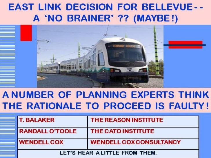 Bellevue Light Rail Cost-Benefit Analysis