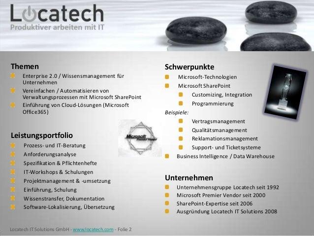 LTRS 2013 - Ticketsystem & Servicedesk für Microsoft SharePoint - Locatech Slide 2