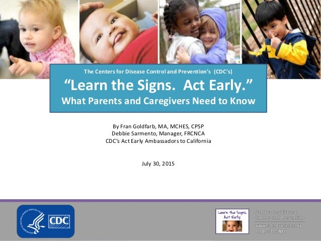 DC Autism Parents - Learn the Signs. Act Early. DC
