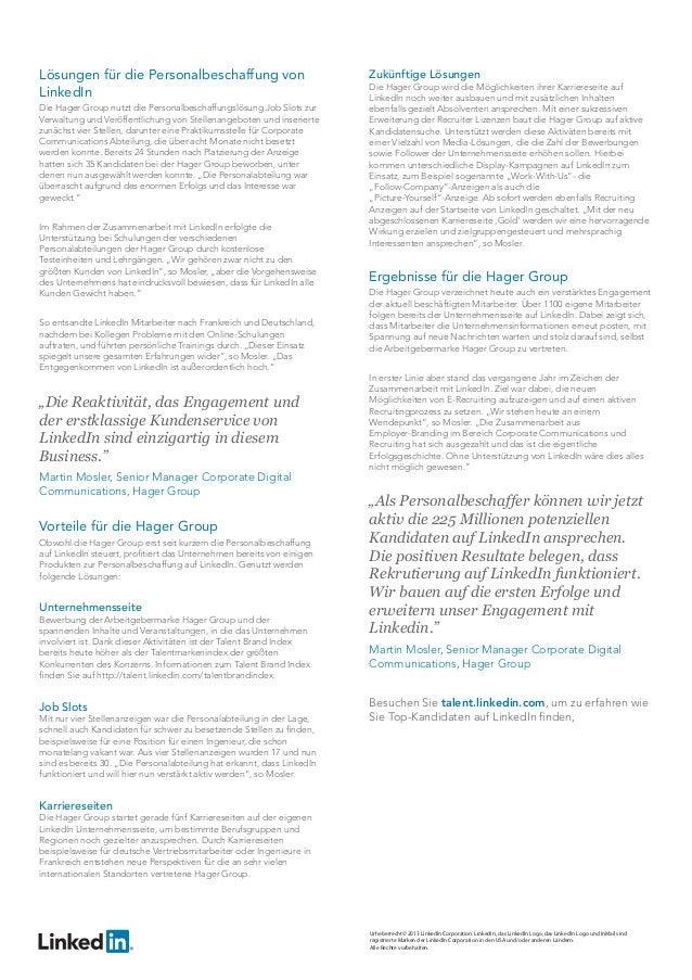 Lösungen für die Personalbeschaffung von LinkedIn Die Hager Group nutzt die Personalbeschaffungslösung Job Slots zur Verwa...