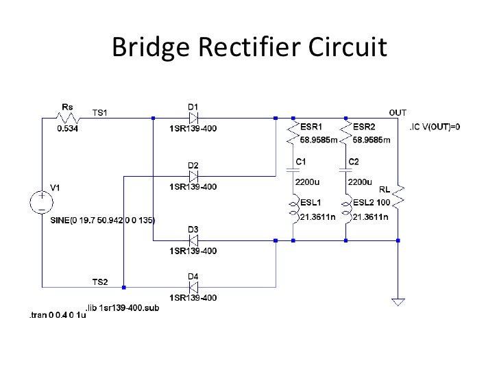 bridge diode simulation using ltspice