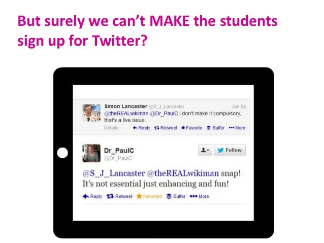 E.g. Academic Tweeting