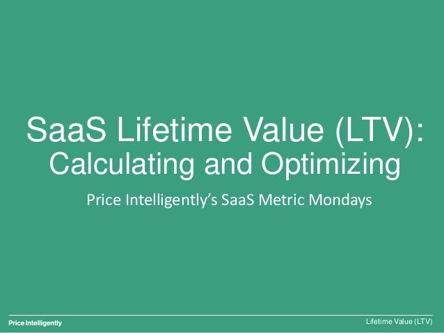 SaaS Lifetime Value (LTV): Calculating and Optimizing Lifetime Value (LTV) Price Intelligently's SaaS Metric Mondays