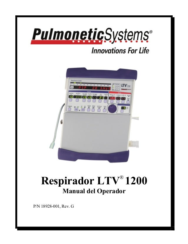Respirador LTV® 1200  Manual del Operador  P/N 18928-001, Rev. G