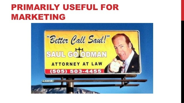 PRIMARILY USEFUL FOR MARKETING