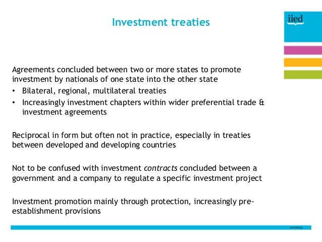 Investment Treaties What They Are And Why They Matter