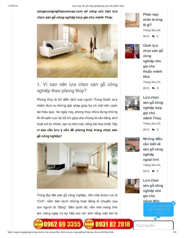 7/18/2016 Lựa chọn sàn gỗ công nghiệp hợp gia chủ mệnh Thủy http://sangocongnghiepcaocap.com/tu-van-san-go/lua-chon-san-go...