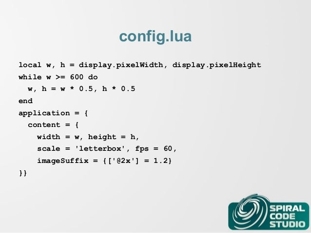 Game Development with Corona SDK and Lua - Lua Workshop 2014