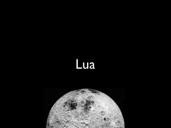 Lua first steps Slide 1