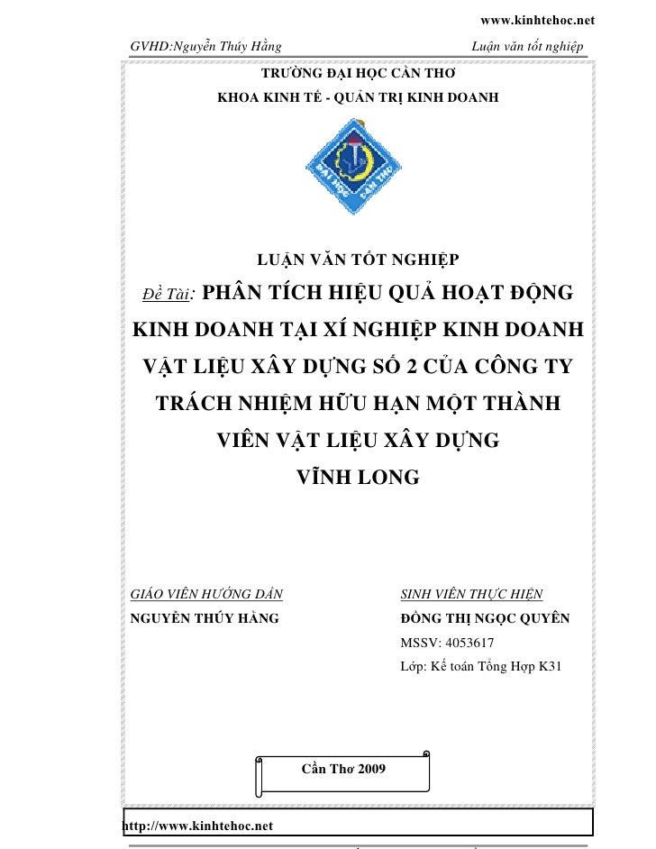 www.kinhtehoc.net GVHD:Nguyễn Thúy Hằng                               Luận văn tốt nghiệp                      TRƯỜNG ĐẠI ...