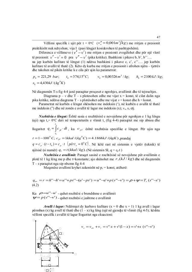 ¢¢ = 0,001 3 ) me rritjen e presionit  Vëllimi specifik i ujit për t = 0oC ( v m kg o  praktikisht nuk ndryshon; vija I (p...