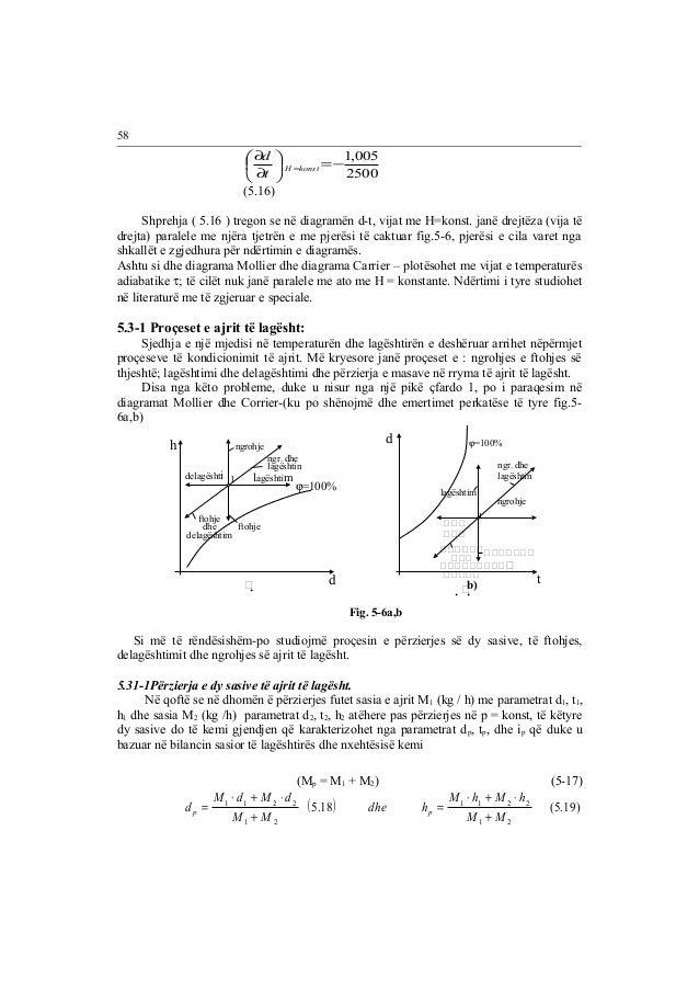 d  ¶  t H =konst  =-1,005 2500  ÷ø  æ  ö ¶  çè  (5.16)  Shprehja ( 5.16 ) tregon se në diagramën d-t, vijat me H=konst. ja...