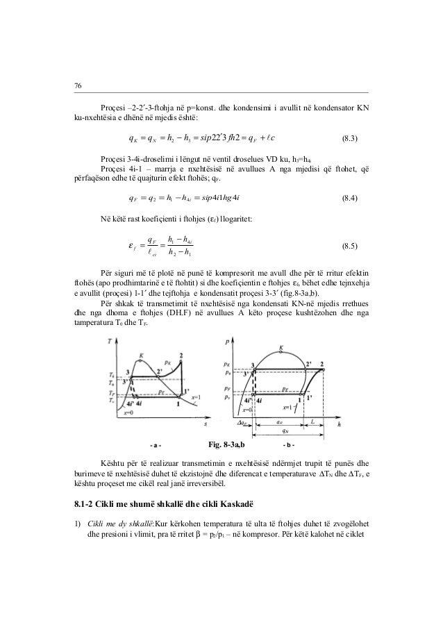 Proçesi –2-2¢-3-ftohja në p=konst. dhe kondensimi i avullit në kondensator KN  ku-nxehtësia e dhënë në mjedis është:  q q ...
