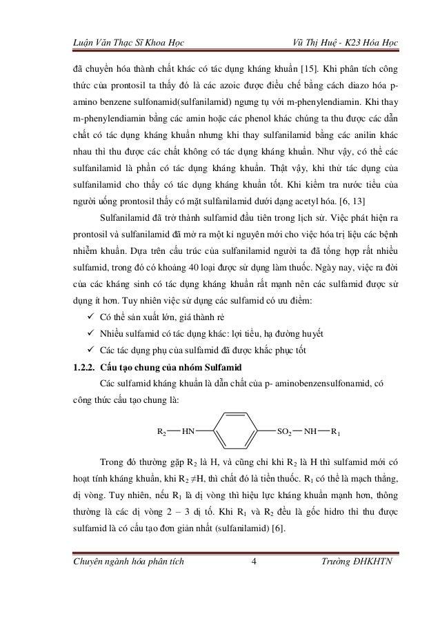 Luận Văn Thạc Sĩ Khoa Học Vũ Thị Huệ - K23 Hóa Học Chuyên ngành hóa phân tích 4 Trường ĐHKHTN đã chuyển hóa thành chất khá...