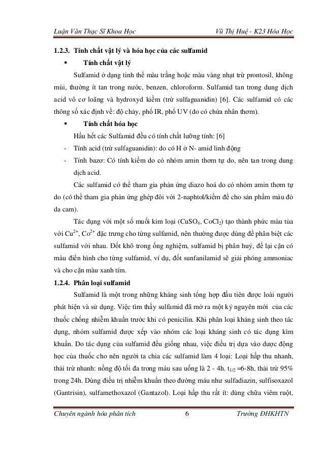 Luận Văn Thạc Sĩ Khoa Học Vũ Thị Huệ - K23 Hóa Học Chuyên ngành hóa phân tích 6 Trường ĐHKHTN 1.2.3. Tính chất vật lý và h...