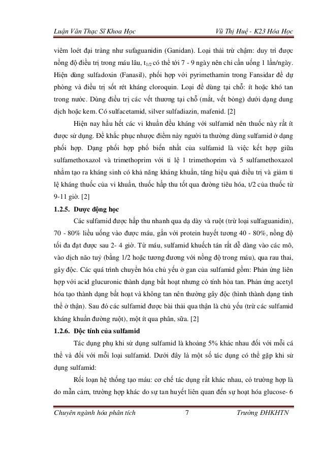 Luận Văn Thạc Sĩ Khoa Học Vũ Thị Huệ - K23 Hóa Học Chuyên ngành hóa phân tích 7 Trường ĐHKHTN viêm loét đại tràng như sufa...