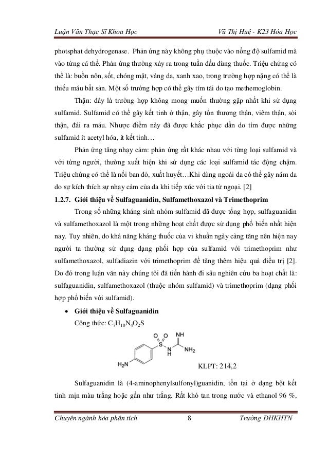 Luận Văn Thạc Sĩ Khoa Học Vũ Thị Huệ - K23 Hóa Học Chuyên ngành hóa phân tích 8 Trường ĐHKHTN photsphat dehydrogenase. Phả...