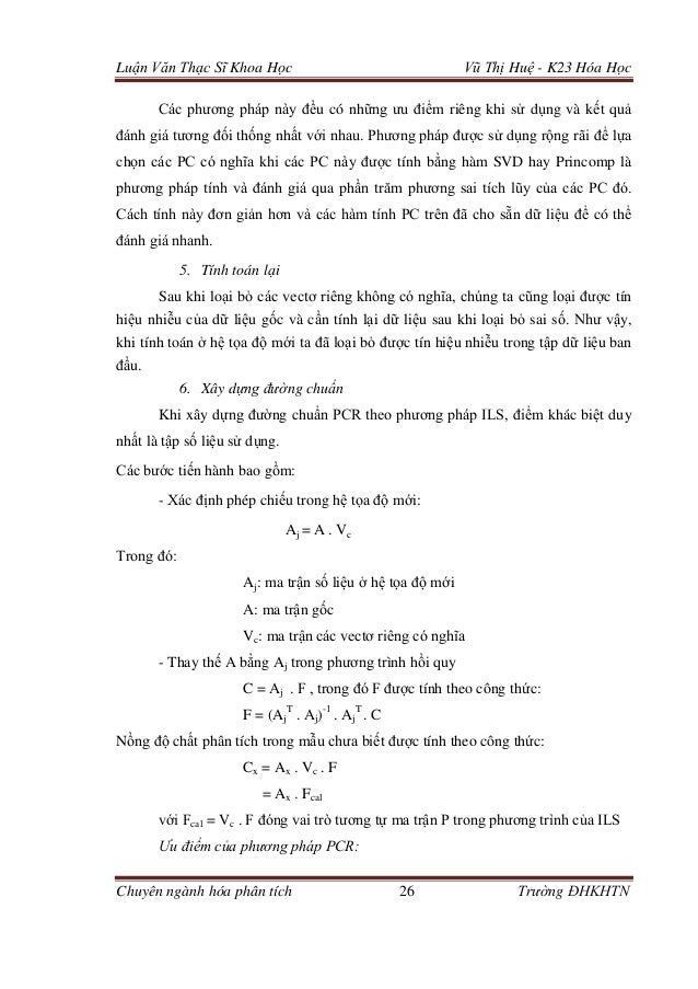 Luận Văn Thạc Sĩ Khoa Học Vũ Thị Huệ - K23 Hóa Học Chuyên ngành hóa phân tích 26 Trường ĐHKHTN Các phương pháp này đều có ...