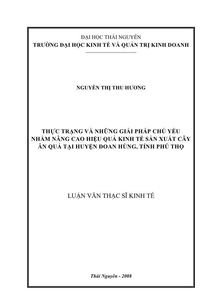 ĐẠI HỌC THÁI NGUYÊNTRƯỜNG ĐẠI HỌC KINH TẾ VÀ QUẢN TRỊ KINH DOANH               ---------------------------------          ...