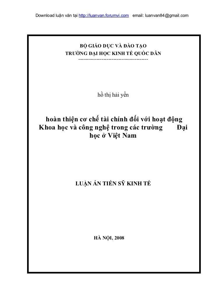 Download luận văn tại http://luanvan.forumvi.com email: luanvan84@gmail.com                   BỘ GIÁO DỤC VÀ ĐÀO TẠO      ...