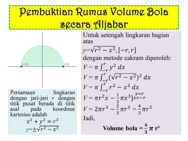 Luas dan volume bola