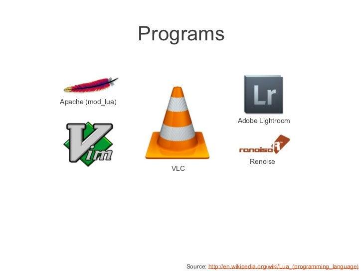 ProgramsApache (mod_lua)                                              Adobe Lightroom                                     ...