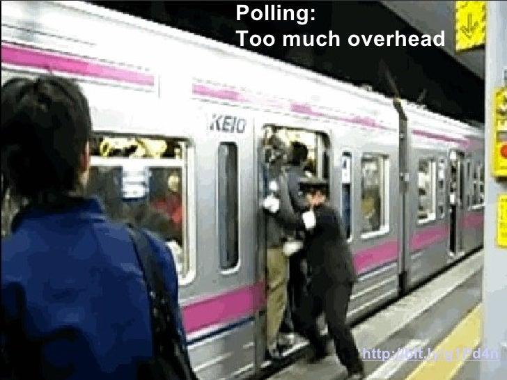<ul><li> </li></ul>Polling:  Too much overhead http://bit.ly/g1Pd4n
