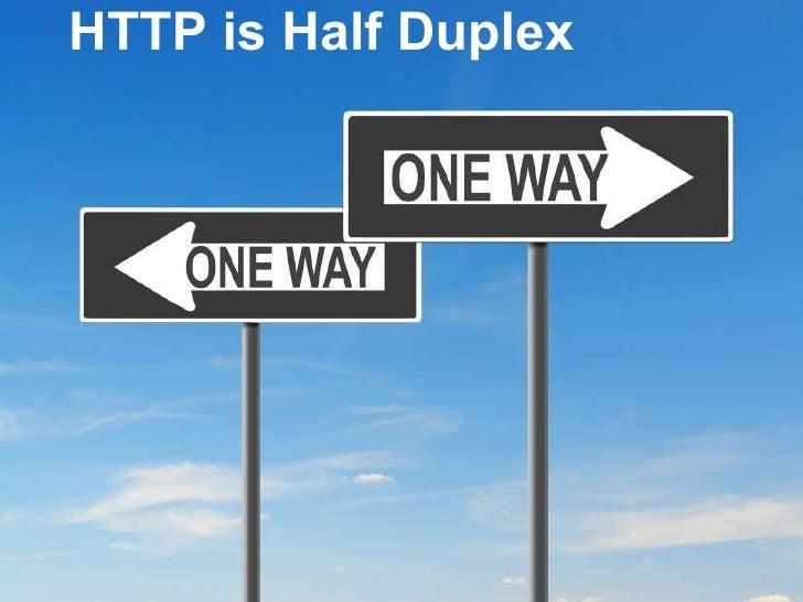<ul><li> </li></ul>HTTP is Half Duplex