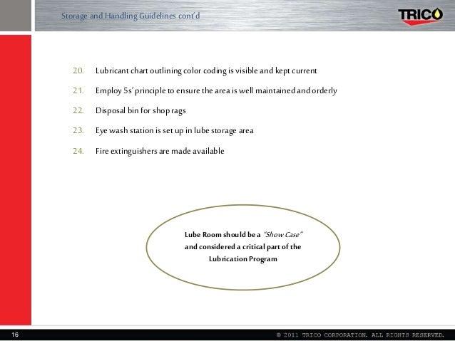 Lubrication Management   Lube Room Development