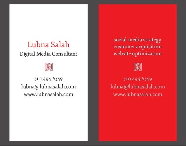 social media strategy   Lubna Salah              customer acquisitionDigital Media Consultant         U                  w...