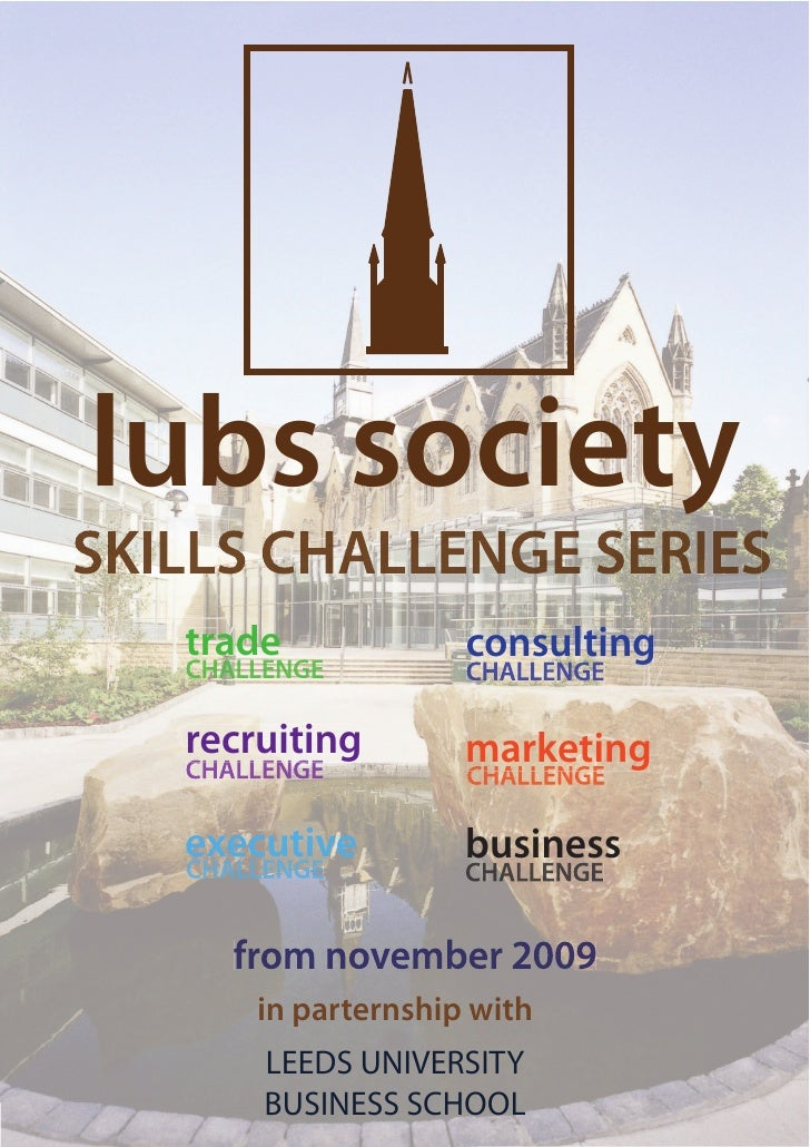 lubs society SKILLS CHALLENGE SERIES    trade             consulting     recruiting        marketing     executive        ...