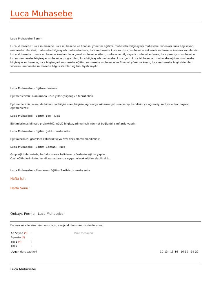 Luca MuhasebeLuca Muhasebe TanımıLuca Muhasebe : luca muhasebe, luca muhasebe ve finansal yönetim eğitimi, muhasebe bilgis...
