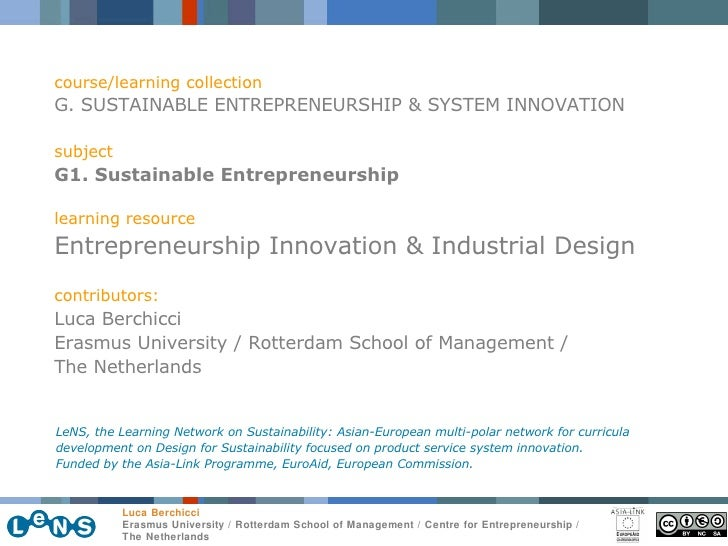 course/learning collection G. SUSTAINABLE ENTREPRENEURSHIP & SYSTEM INNOVATION subject G1. Sustainable Entrepreneurship le...