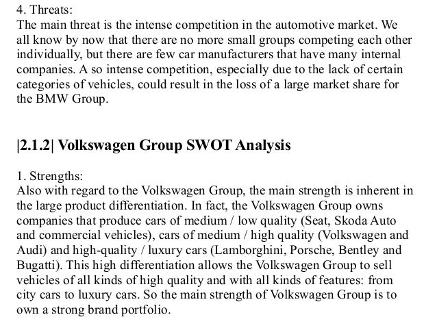 "Luca Buffolano : ""BMW vs VOLKSWAGEN: TWO LEADING AUTOMAKER ..."