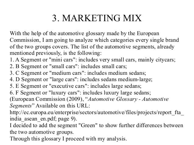 marketing mix for bmw The marketing mix or 4ps (product, place, promotion & price) is the set of strategies that a company uses for its marketing plan tesla maintains significant managerial control in all.