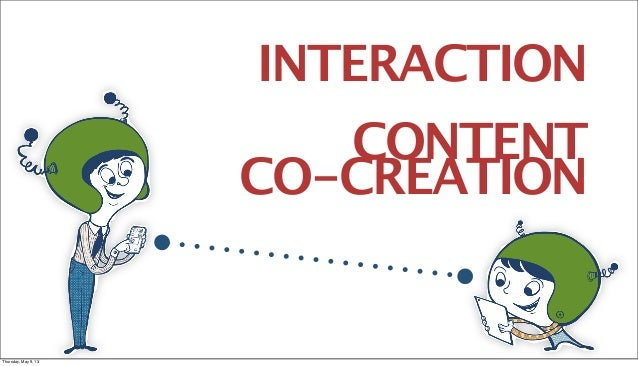 INTERACTIONCONTENTCO-CREATIONThursday, May 9, 13