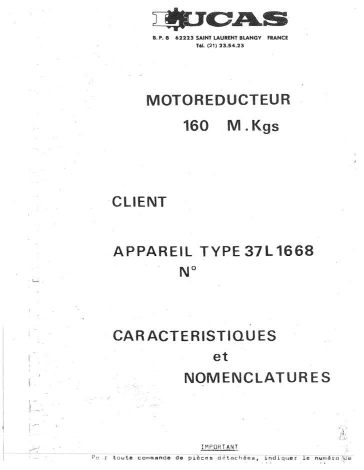 B. P. 8   62223 SAINT LAURENT SLANGY   FRANCE                                       Till. (21) 23.54.23                   ...