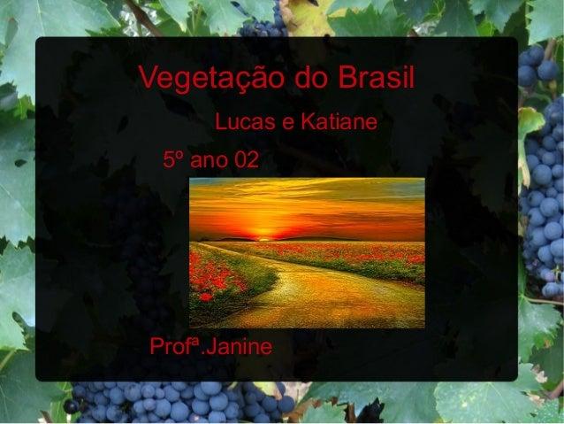 Vegetação do BrasilLucas e Katiane5º ano 02Profª.Janine
