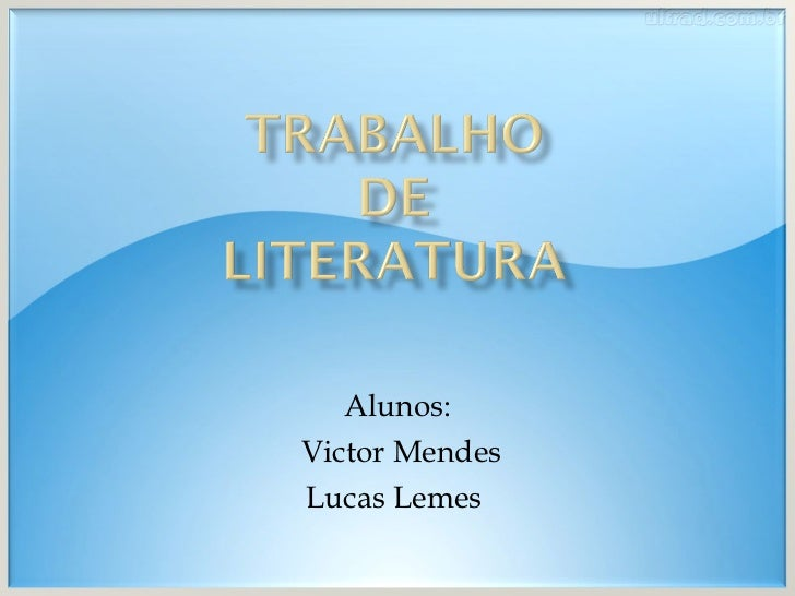 Alunos: Victor Mendes Lucas Lemes