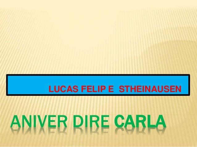 LUCAS FELIP E STHEINAUSEN  ANIVER DIRE CARLA