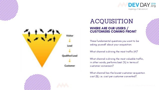 ACQUISITION WHERE ARE OUR USERS / CUSTOMERS COMING FROM? Three fundamental questions you want to be asking yourself about ...
