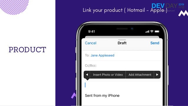 PRODUCT Link your product ( Hotmail - Apple )